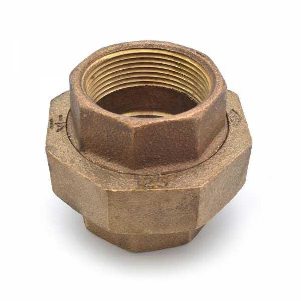 "1-1/2"" FPT Brass Union, Lead-Free"