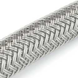 """20"""" Poly Braided Faucet Connector (1/2"""" FIP x 3/8"""" Compr.)"""