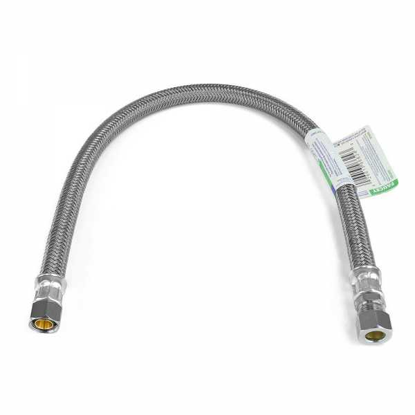 """20"""" Poly Braided Faucet Connector (3/8"""" OD Compr. x 3/8"""" Compr.)"""