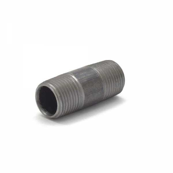"Everhot BL-012X2 1/2"" x 2"" Black Pipe Nipple"