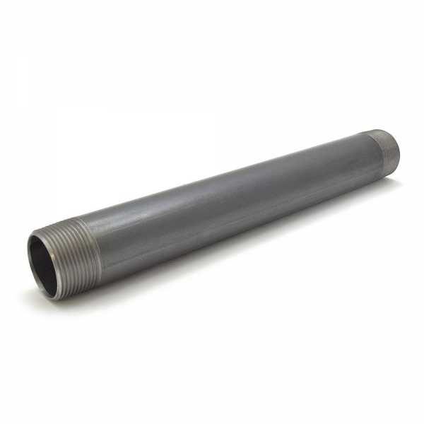 "1-1/4"" x 12"" Black Pipe Nipple"