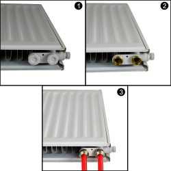 "24"" x 24"" Hydronic Panel Radiator w/ Brackets, Model 11"