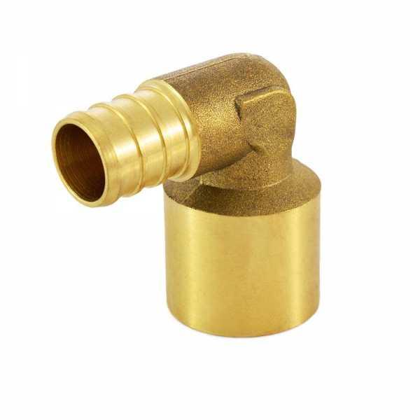 "Everhot BPF7704 5/8"" PEX x 3/4"" Copper Pipe Elbow"