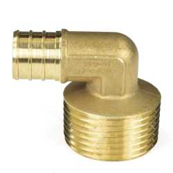 "3/4"" PEX x 1"" Male Threaded Elbow"