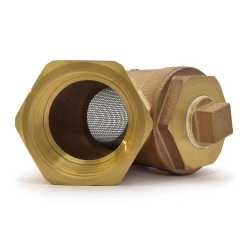 "2"" Threaded Y-Strainer w/ Plug, Cast Bronze"