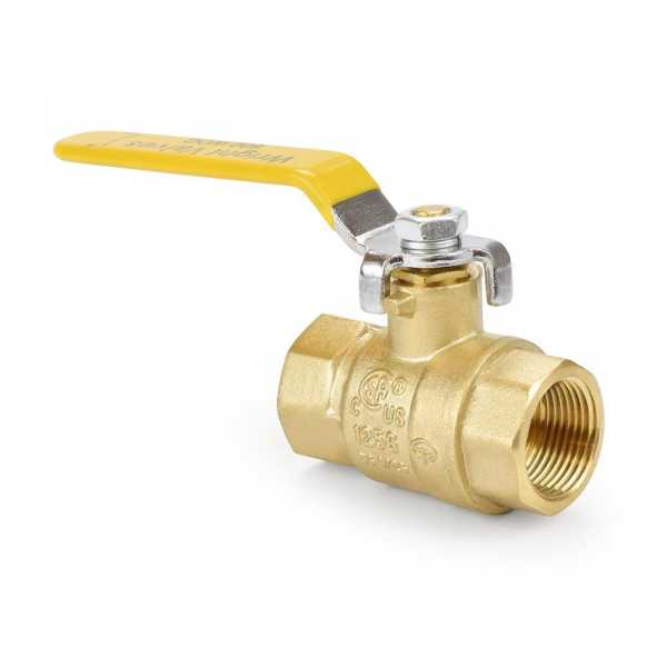 "3/4"" FIP x FIP Threaded Brass Ball Valve, Full Port"