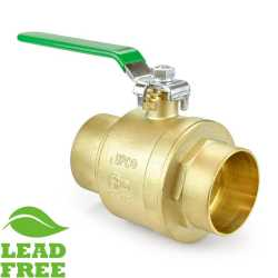 "3"" Sweat (Solder) Brass Ball Valve, Full Port (Lead-Free)"