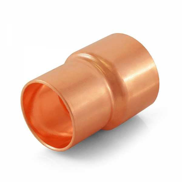 "1-1/2"" x 1-1/4"" Reducing Copper Coupling"