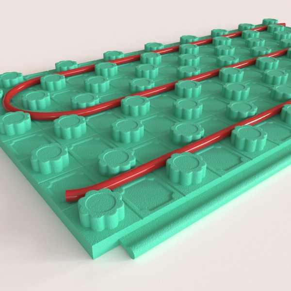 "96 sqft (2ft x 4ft, 12 panels) Crete-Heat 1"" Foam Board Insulation for 3/8"", 1/2"" & 5/8"" PEX, R-6"