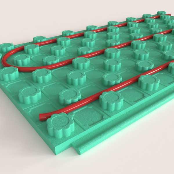 "64 sqtf (2ft x 4ft, 8 panels) Crete-Heat 2"" Foam Board Insulation for 3/4"", 1"" PEX, R-10"