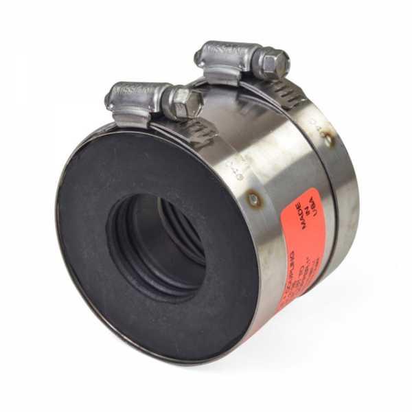 "2"" No-Hub CI/XH/Plastic/Steel to 1-1/4"" Copper or 1"" Plastic/Steel Coupling"