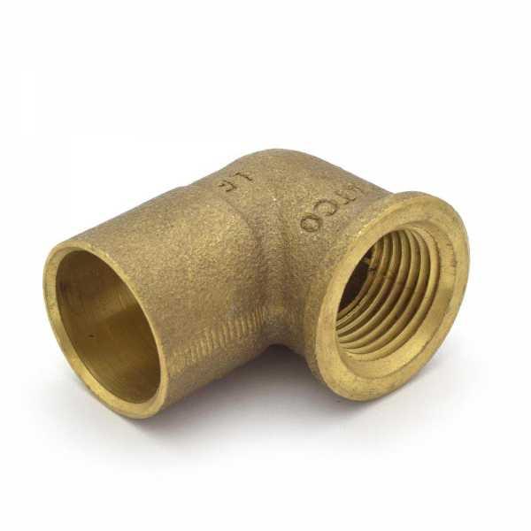 "3/4"" Sweat x 1/2"" FPT Cast Brass Elbow, Lead-Free"