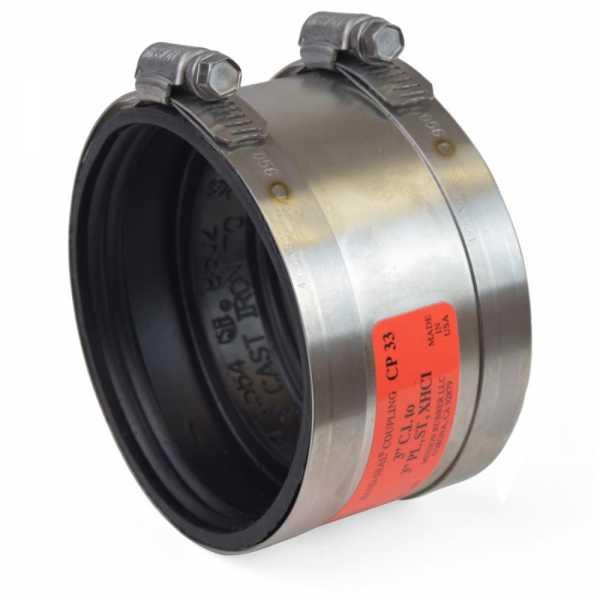 "3"" No-Hub CI to 3"" Extra Heavy CI/Plastic/Steel Coupling"