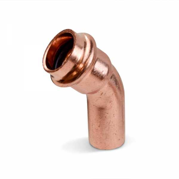 """1/2"""" Press Copper 45° Street Elbow, Imported"""
