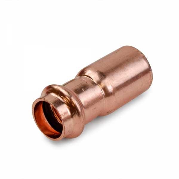 """3/4"""" FTG x 1/2"""" Press Copper Reducer, Imported"""