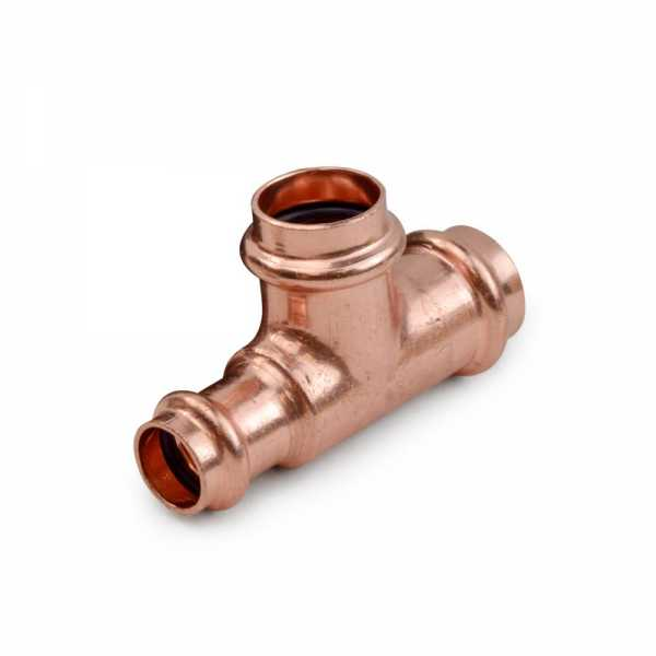 """3/4"""" x 1/2"""" x 3/4"""" Press Copper Tee, Imported"""
