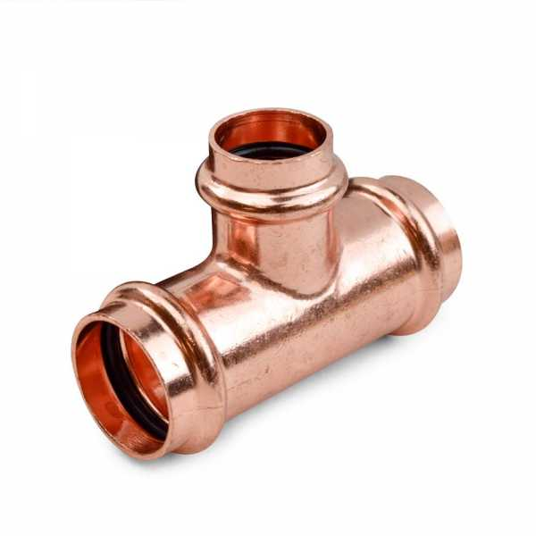 """1"""" x 1"""" x 3/4"""" Press Copper Tee, Imported"""