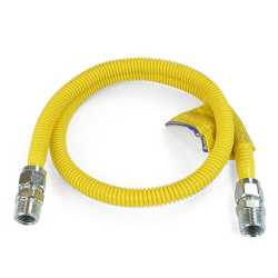 """1/2 ID (5/8"""" OD) ProCoat Coated Stainless Steel Gas Connector w/ 3/4"""" MIP Fittings (48"""" Length)"""""""