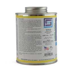 EverTUFF Step-1 CPVC CTS Cement w/ Dauber, Med-Body Fast-Set, Yellow, 16oz