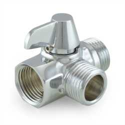 Diverter Valve for Hand Held Shower, Chrome Plated Brass