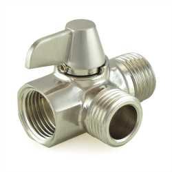 Diverter Valve for Hand Held Shower, Brushed Nickel Brass