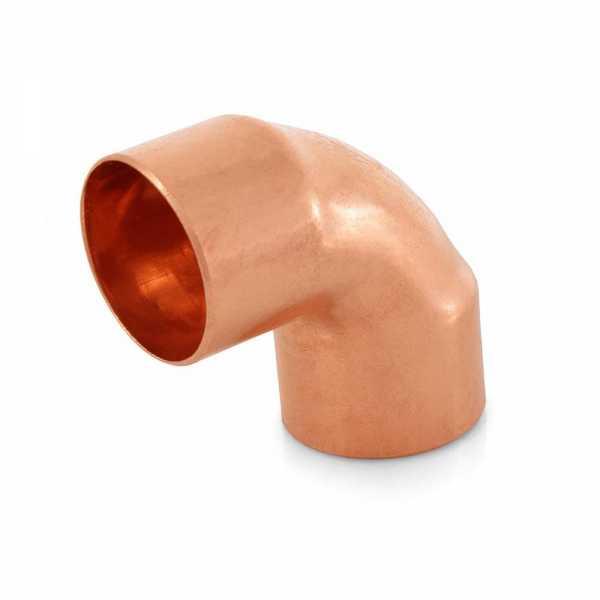 "1"" x 1/4"" Copper 90° Reducing Elbow"