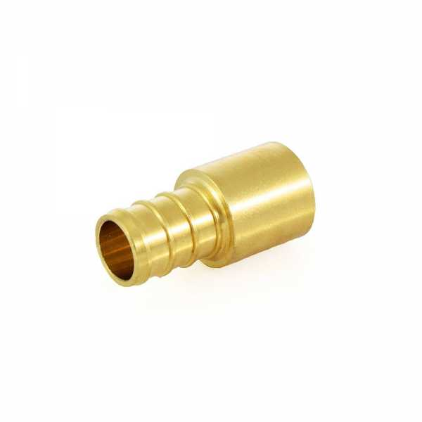 "1/2"" PEX x 1/2"" Copper Fitting Adapter, Lead-Free"