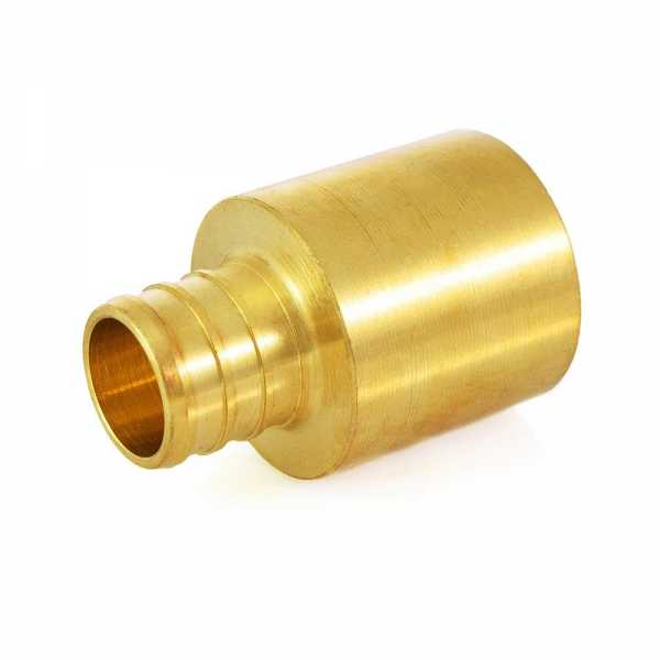 """3/4"""" PEX x 1"""" Copper Fitting Adapter, Lead-Free"""