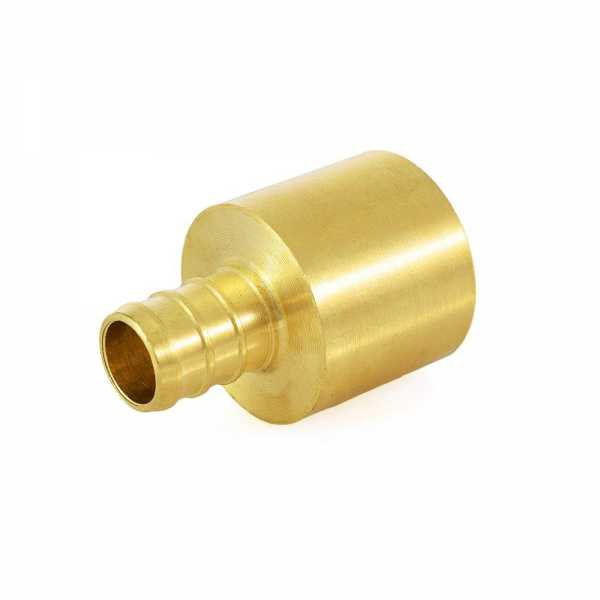 "1/2"" PEX x 3/4"" Copper Pipe Adapter, Lead-Free"