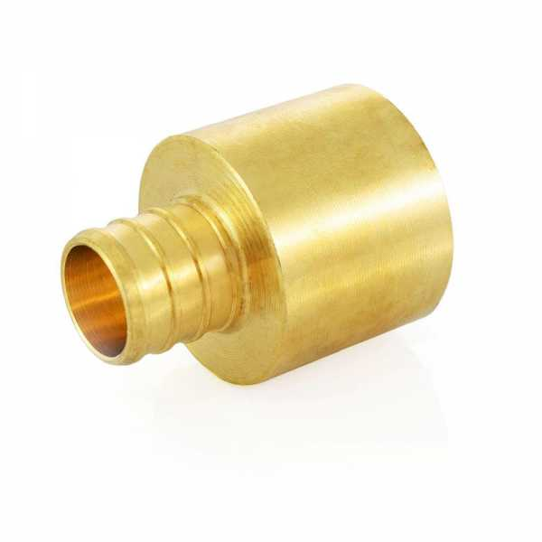"3/4"" PEX x 1"" Copper Pipe Adapter, Lead-Free"