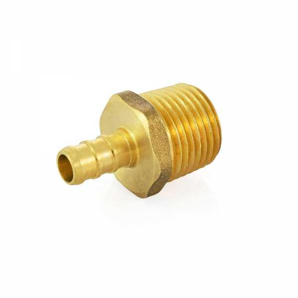 "3/8"" PEX x 1/2"" Male Threaded Adapter, Lead-Free"