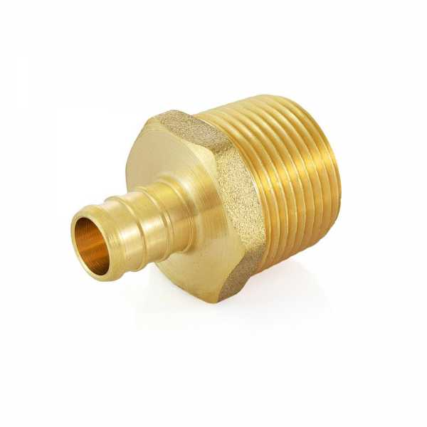 "1/2"" PEX x 3/4"" Male Threaded Adapter, Lead-Free"