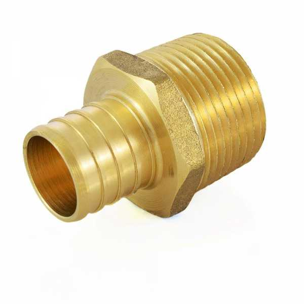 "1"" PEX x 1"" Male Threaded Adapter, Lead-Free"