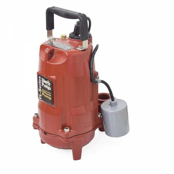Automatic Effluent Pump w/ Wide Angle Float Switch, 1/2HP, 10' cord, 208/230V