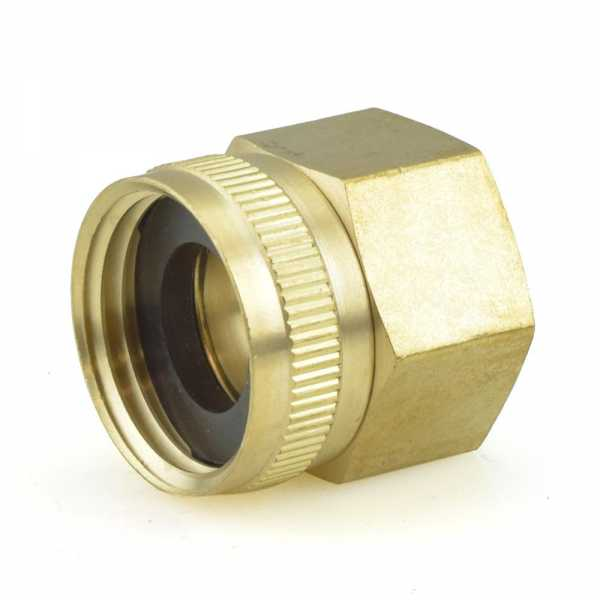 "3/4"" FGH x 3/4"" FIP Swivel Brass Adapter"