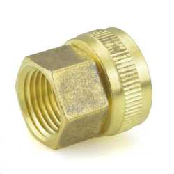 "3/4"" FGH x 1/2"" FIP Swivel Brass Adapter"