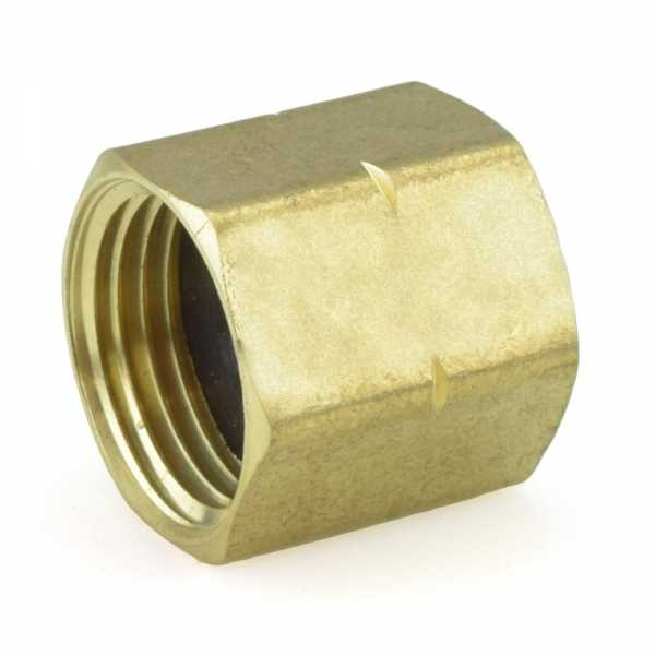 "3/4"" FGH x 3/4"" FGH Brass Solid Coupling"