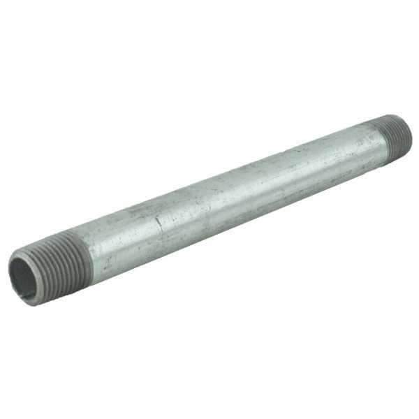 "1/2"" x 8"" Galvanized Steel Pipe Nipple"