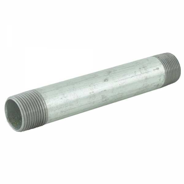 "3/4"" x 6"" Galvanized Steel Pipe Nipple"