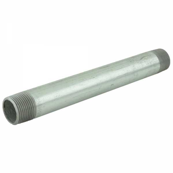 "3/4"" x 8"" Galvanized Steel Pipe Nipple"
