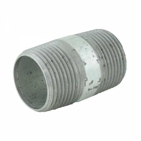 "1"" x 2"" Galvanized Steel Pipe Nipple"