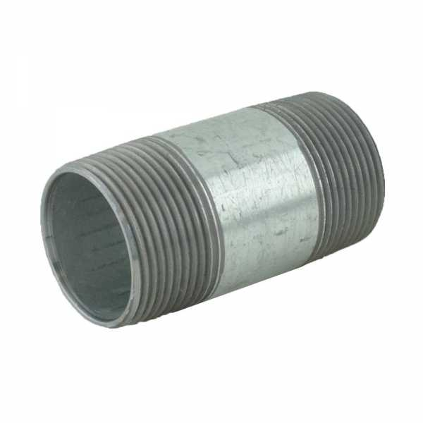 "1-1/4"" x 3"" Galvanized Steel Pipe Nipple"