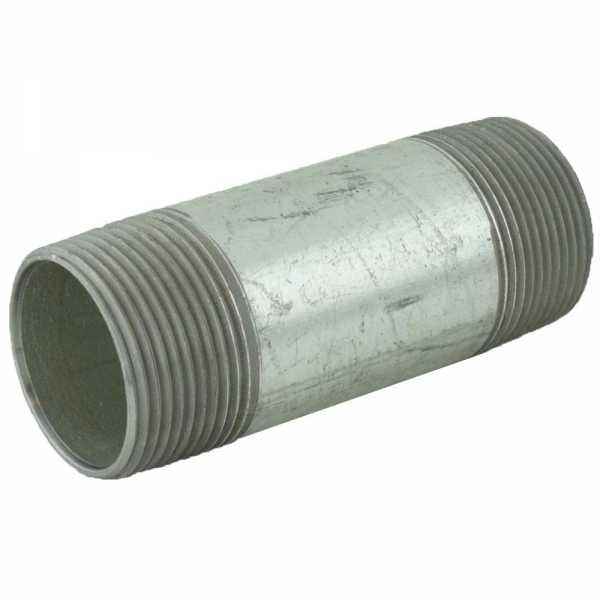 "1-1/4"" x 4"" Galvanized Steel Pipe Nipple"