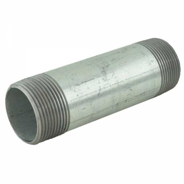 "1-1/4"" x 5"" Galvanized Steel Pipe Nipple"