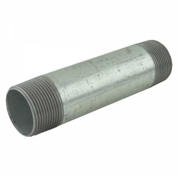 "1-1/4"" x 6"" Galvanized Steel Pipe Nipple"