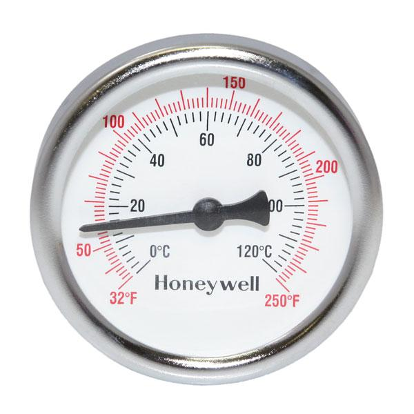 """Thermometer, 1/2"""" NPT, 2-1/2"""" Dial, 32-250F, 1-1/2"""" stem"""