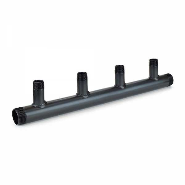 "(4-Branch) Boiler Header Manifold, 1-1/2"" Trunk x 1"" Outlets, Threaded"