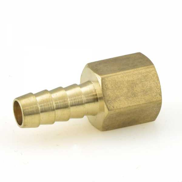 "5/16"" Hose Barb x 1/4"" Female Threaded Adapter, Brass"