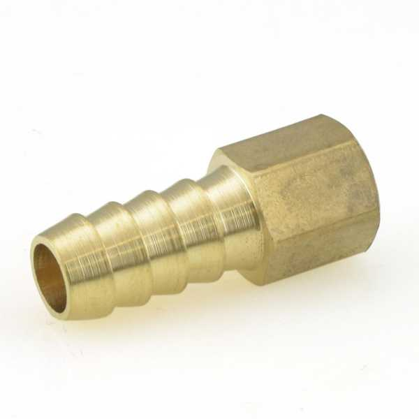 "3/8"" Hose Barb x 1/8"" Female Threaded Adapter, Brass"