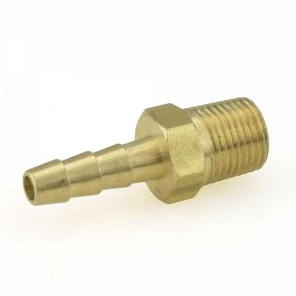 """3/16"""" Hose Barb x 1/8"""" MIP Brass Adapter"""